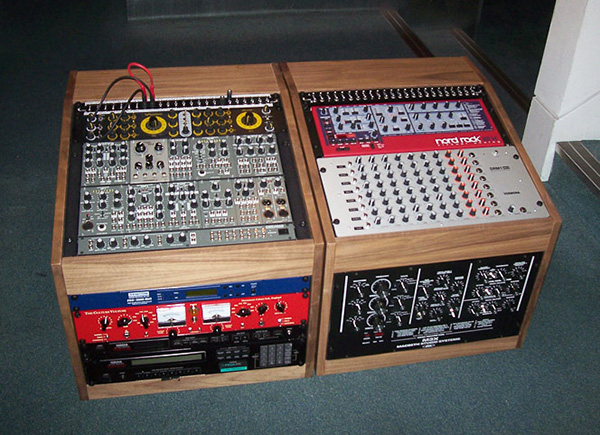 Walnut veneer studio racks
