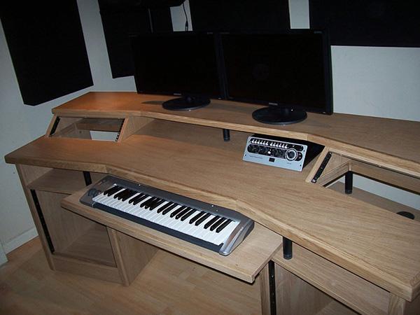 Custom studio desk recording