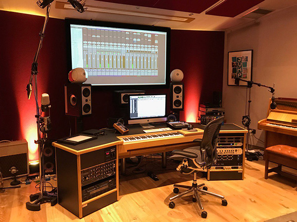 Composers Recording Studio Desk with built in keyboard