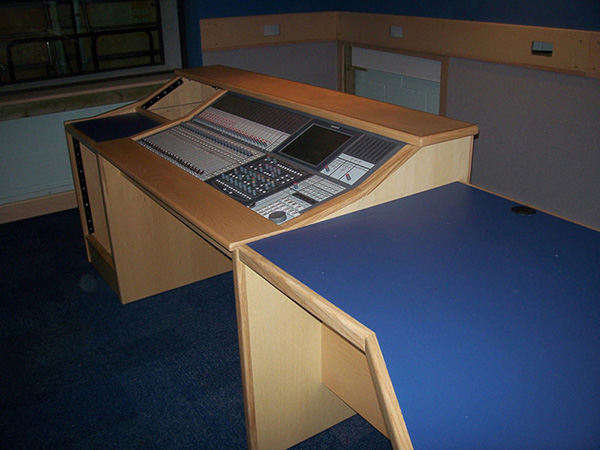Sony desk at Surrey University