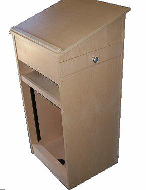 Lectern with 19 inch Racking
