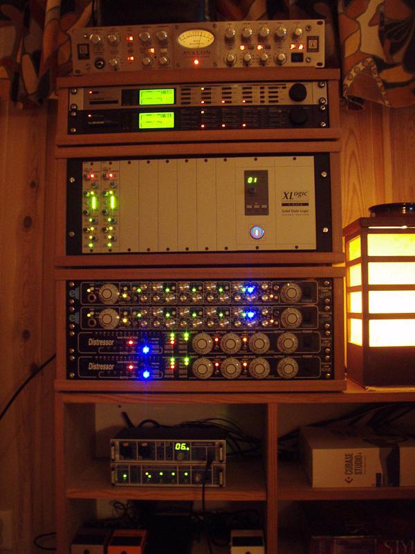 Studio Racks in Home Recording Studio